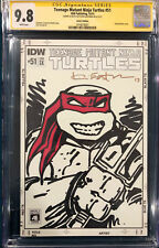 KEVIN EASTMAN SIGNED ORIGINAL TMNT Sketch Art CGC 9.8 Ninja Turtles RAPHAEL