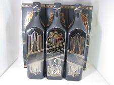 Johnnie Walker Whisky Black Label Art Deco 700ml x 3 Full and Sealed