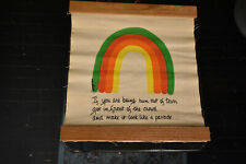 70's Bancroft Rainbow Banner Wall Hanging Tapestry Pride Parade 1975