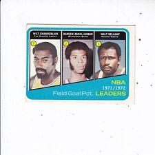 1971-1972 Topps Basketball #172 Field Goal % Leaders  NRMT