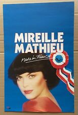 "AFFICHE SPECTACLE : Mireille Mathieu ""Made in France"" 1985"