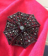 Maltese Cross Black Crystals Brooch Pendant Kennneth Jay Lane Kjl – Rare Double