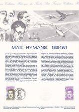 Document philatélique 08-90 1er jour 1990 Aviation Max Hymans Air France