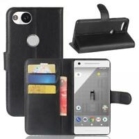 Google Pixel 2 Cartera Funda Cover Flip Wallet Case bolsa Carcasa Negro