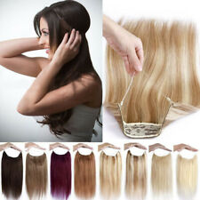 8A 16-30inch Halo Remy Human Hair Hidden Invisible Wire Hair Extensions 80-135g