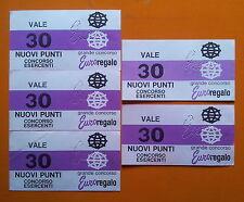 Punti Euroregalo Ferrero anni '60 lotto di 5 tagliandi valore 30 punti ognuno