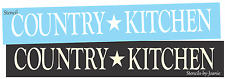 Joanie Stencil Country Kitchen Barn Star Family Primitive Home Decor Craft Signs