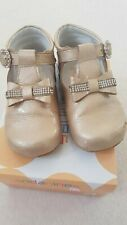 Girls Andanines Gold Shoes with bow size 23/uk6