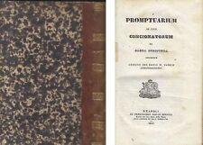 PROMPTUARIUM AD USUM CONCIONATORUM EX SACRA SCRIPTURA 1853 Viduae Miranda