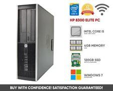 HP 8300 Desktop PC | Intel Core i5 Quad Core | 4GB 120GB SSD | Windows 7 | WiFi