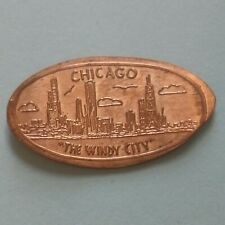 Chicago The Windy City Skyline Skyscrapers Illinois Elongated Copper Penny