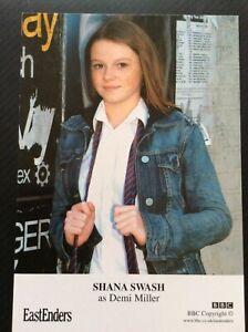 SHANA SWASH AS DEMI MILLER (EASTENDERS) UNSIGNED CAST CARD