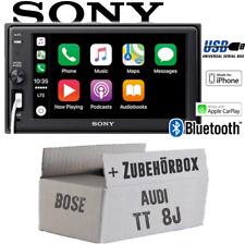 Sony Autoradio für Audi TT 8J Bose Bluetooth Apple CarPlay USB Einbauzubehör PKW