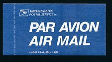 84485) Luftpost Vignette Air Mail label, USA USPS ...1994