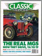 Classic and Sportscar Magazine February 1992 MBox1089 The real MGS - Ferrari 250