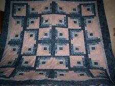 A Very Nice & Pretty Log Cabin Star Quilt Top  (96 x 96 approx.)