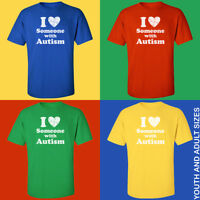 I Love Someone with Autism T-Shirt *** Autism Awareness *** Puzzle Shirts