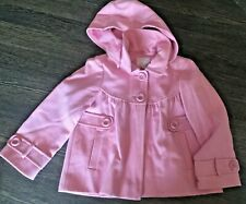 NEXT GIRLS DRESS COAT PINK 7-8 YEARS WITH DETACHABLE MATCHING HOOD