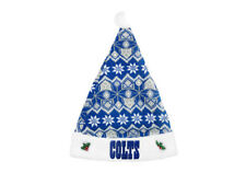NFL Indianapolis Colts Forever Collectibles Knit Sweater Santa Hat Christmas Pom