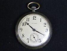 Antique Swiss Made Gotthard Pocket watch .800 sterling silver case