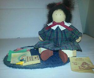 """Lizzie High """"Mary Ellen Valentine"""" Wooden Doll w/ Rug"""