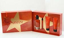 GIORGIO ARMANI SI PASSIONE 4-Piece Gift Set ~ 3.4oz/100ml EDP Spray New In Box