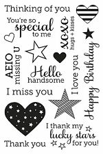 Hero Arts Clear Stamps - Year Round Sentiments - Love, Hearts, Special, Stars
