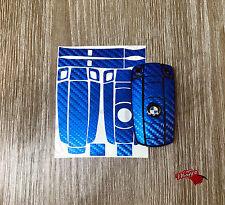 Bleu fibre de carbone porte-clés wrap cover overlay bmw 1 3 5 6 série Z4 X1 3 X5 X6 m