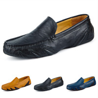 Mens Flats Driving Moccasins Shoes Casual Slip on Loafers Soft Comfy Low Top BB