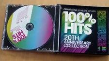 100% Hits- 20Th Anniversary Edition 4 cd Box Set...80 tracks