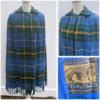 Vintage Tartan Made in Scotland 100% Wool Cape Poncho Nethy Bridge Product