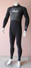 Full Length Steamer Wetsuit for Men 2/3mm Back Zip Size XL, Black
