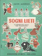 Sogni Lieti Happy Dreams 10 Easy Pieces For Solo Piano 1967 Alderighi Italian