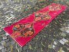 Carpet, Turkish rug, Vintage rug, Handmade rug, Runner, Wool | 2,7 x 10,2 ft