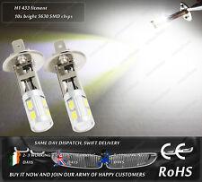 LED SMD H1 433 Xenon White 4500k DRL Daytime Running Lights Fog Bulbs 12V 24V