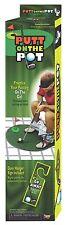 PUTT ON THE POT SET Toilet Seat Putter Golf Ball Green Prank Golfer Game Joke