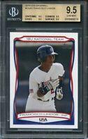 2010 usa baseball #usa5 FRANCISCO LINDOR rookie card BGS 9.5 (9.5 9.5 9.5 9.5)