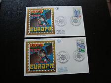 FRANCE -  2 enveloppes 1er jour 27/41991 (europa) (cy47) french