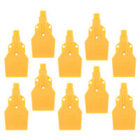 "10 lot ABS Plastic Jet Air Blower Air Knife Nozzle 3 Holes 1/4"" BSPT Yellow"