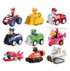 Paw Patrol Figuren 9 Stück Zurückziehen Autos Kinder Geschenk Spielzeug 6/9TlgDE