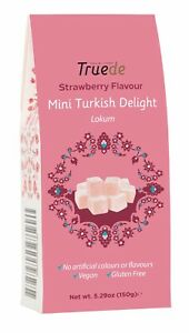 New Mini Strawberry Flavour Turkish Delight Kids Soft Sweet Christmas New year