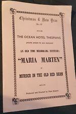 More details for butlins ocean hotel programme 1976 'maria marten - murder in the old red barn'