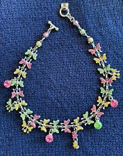NEW NWT AUTHENTIC OTAZU Vintage Butterfly Necklace Collectible