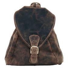 Greenburry Vintage 1716-25 Leder Rucksack 2 in 1 Cityrucksack und Umhängetasche