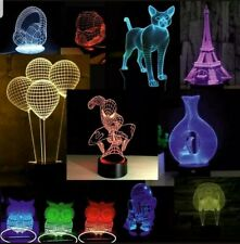 50+ DXF acrylic 3D illusion lamp LED Vector PDF .DXF .JPG |For CNC and Laser cut