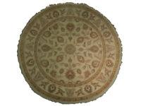 10/10 Quality Agra Wool Handmade Oriental Round Rug