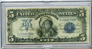 "1899 $5 FIVE DOLLARS ""CHIEF"" SILVER CERTIFICATE"