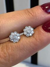 18ct white gold 0.45ct GVS diamonds FLOWER DIAMOND stud earring GOY649