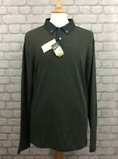 PENGUIN BY MUNSING WEAR MENS XL GREY LONG SLEEVED POLO SHIRT CASUAL DESIGNER