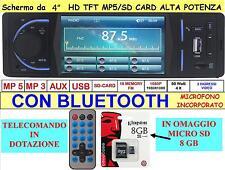 STEREO PER AUTO AUTORADIO CON DISPLAY LCD 4″ e BLUETOOTH HD MP3 MP4 MP5 USB SD